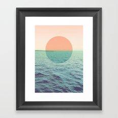 Because the ocean Framed Art Print