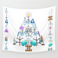 chemistry Wall Tapestries featuring Oh Chemistry, Oh Chemist Tree  by Gravityx9