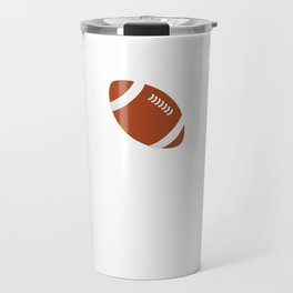 Proud and Loud Football Mom Funny Sports T-shirt Travel Mug
