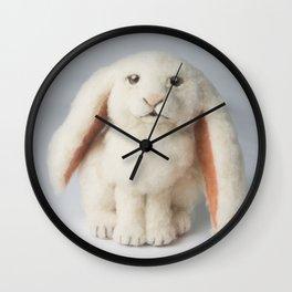 Fuzzy Bunny Wall Clock
