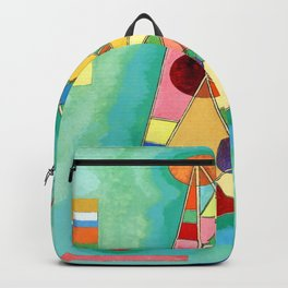 Wassily Kandinsky Multi Colored Triangle Backpack
