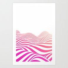 Pink wave Art Print