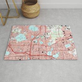 Orlando Florida Map (1995) Rug