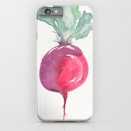 Watercolor beets iPhone Case