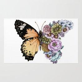 Butterfly in Bloom II Rug