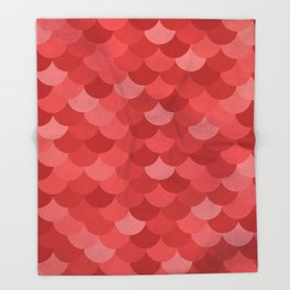 Scales - Red Throw Blanket