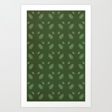 leaf pattern Art Print