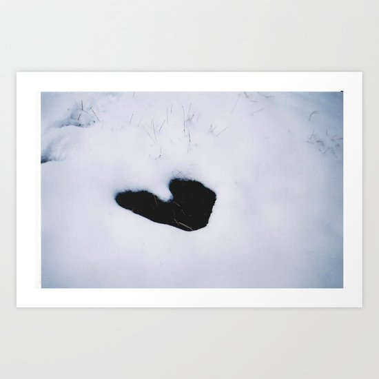 frozen heart Art Print