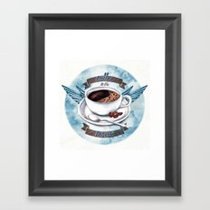 Coffee To The Rescue Framed Art Print