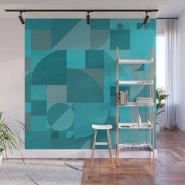 Turquoise Bauhaus Wall Mural