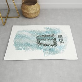 Messi Football Shirt Drawing Rug
