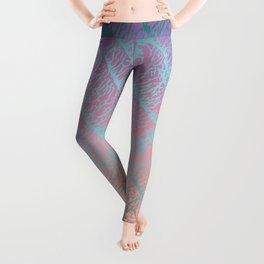 Pink Beige Elephant Skin Leggings