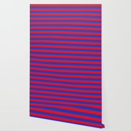 Blue and Red Stripes Wallpaper