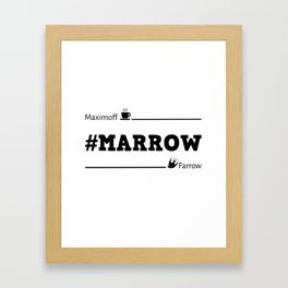 Marrow Framed Art Print