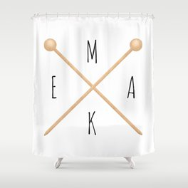 MAKE  |  Knitting Needles Shower Curtain