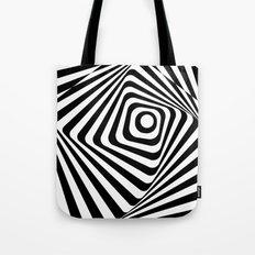Zebra Op Tote Bag