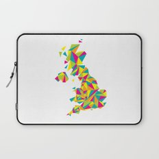 Abstract United Kingdom Bright Earth Laptop Sleeve