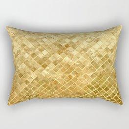 Golden Checkerboard Rectangular Pillow
