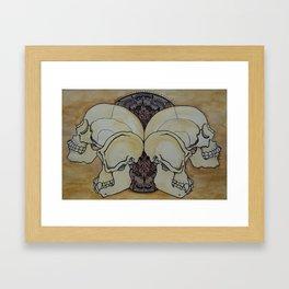 Human & Chimp Framed Art Print