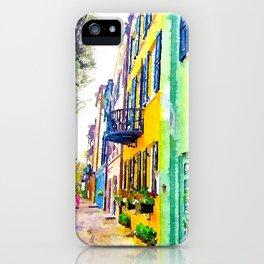 Rainbow Row - Charleston - South Carolina iPhone Case
