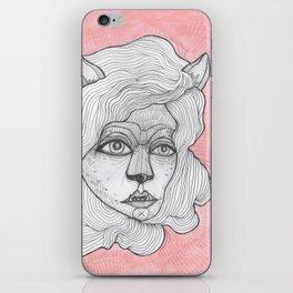 wolf woman iPhone Skin
