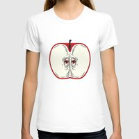 anxiety T-shirts featuring Anxiety Apple by Nicholas Ely
