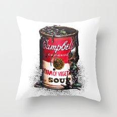 Cream of Vegetable Throw Pillow