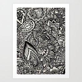 floral jungle Art Print