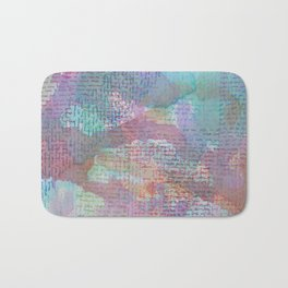 Words and Water Paint 2 Bath Mat