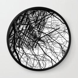 Tree Business Nature Merge BW Wall Clock