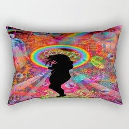 Autumn Fantasy Rainbow Witch Rectangular Pillow