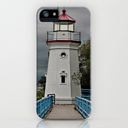 A walk to the lighthouse iPhone Case