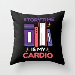 Story Teller Storybook Reader Book Gift Throw Pillow