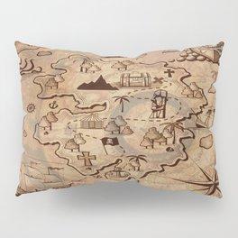 Pirate Map Pillow Sham