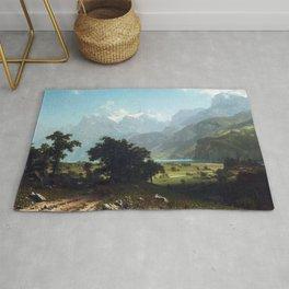 Albert Bierstadt Lake Lucerne Rug