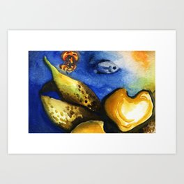 Underwater WaterColor Art Print