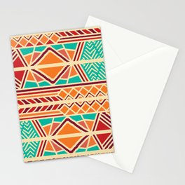 Tribal ethnic geometric pattern 027 Stationery Cards