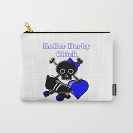 Roller Derby Chick (Blue) Carry-All Pouch