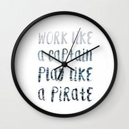 Play Like A Pirate Wall Clock
