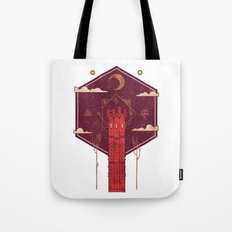 The Crimson Tower Tote Bag