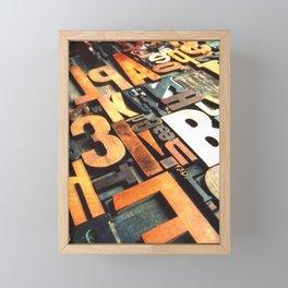 3B - Typography Photography™ Framed Mini Art Print