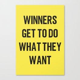 WINNERS Canvas Print