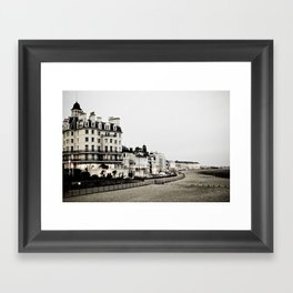 Old sea front Framed Art Print