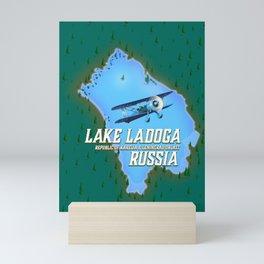 Lake Ladoga Russian map Mini Art Print