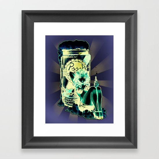 BLUE RIBBON PRINCESS Framed Art Print