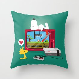 Duck Game Throw Pillow