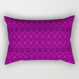 Magenta Damask Pattern Rectangular Pillow