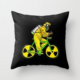 Radioactivity Bike Throw Pillow