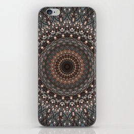 Detailed mandala with floral ornament iPhone Skin