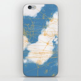 Cloud Chamber iPhone Skin